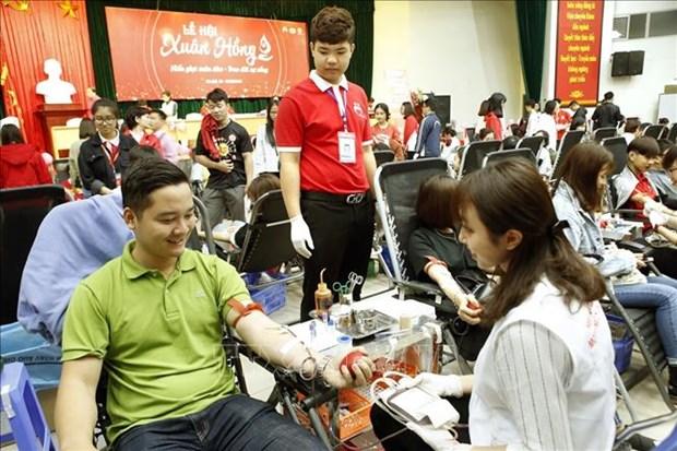 第十二次春红献血节吸引1.2万人参加 hinh anh 2