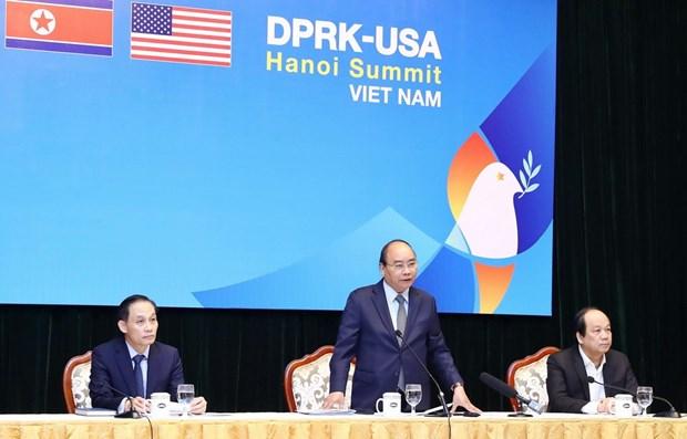 美朝领导人第二次会晤:构建和平 提升地位 hinh anh 1