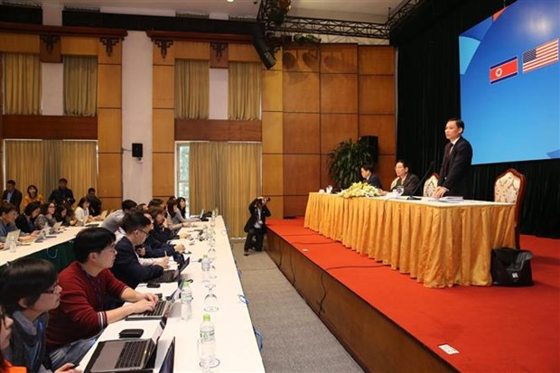 美朝领导人第二次会晤筹备工作媒体吹风会在河内举行 hinh anh 2