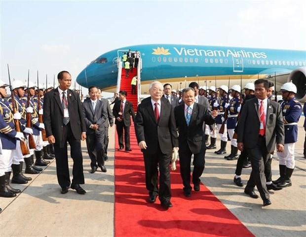越共中央总书记、国家主席阮富仲对柬埔寨王国进行国事访问 hinh anh 1