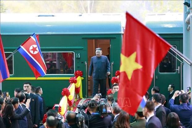 美朝领导人会晤:国际媒体密集报道朝鲜最高领导人访越消息 hinh anh 1