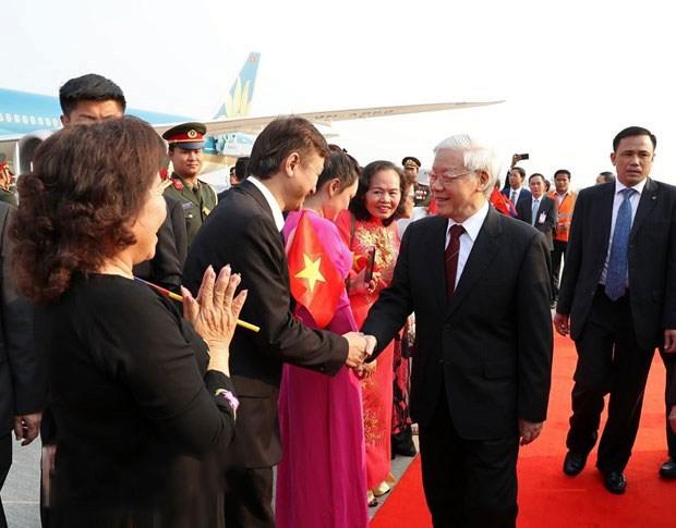 泰国媒体:阮富仲访问老柬两国加强外交关系 hinh anh 1