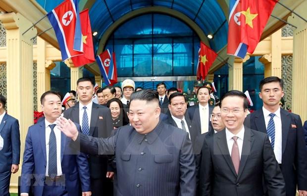 朝鲜最高领导人金正恩开始对越南进行正式友好访问 hinh anh 1