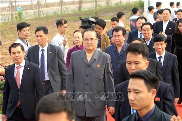 朝鲜劳动党高级领导代表团访问海防市 hinh anh 2