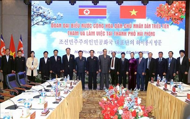 朝鲜劳动党高级领导代表团访问海防市 hinh anh 1
