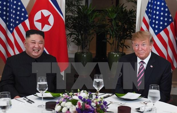 美朝领导人第二次会晤:朝鲜领导人和美国总统结束工作晚宴 hinh anh 1
