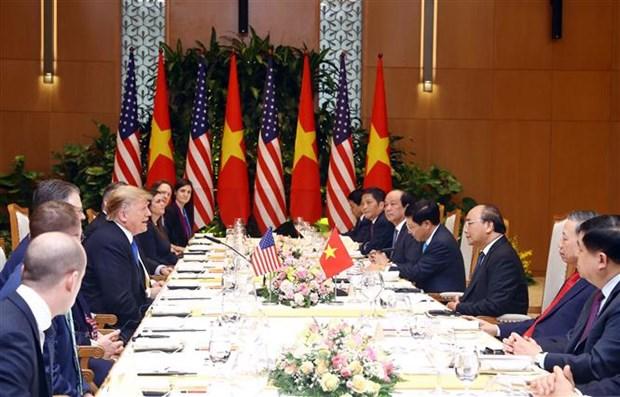 越南政府总理阮春福会见美国总统特朗普 hinh anh 2