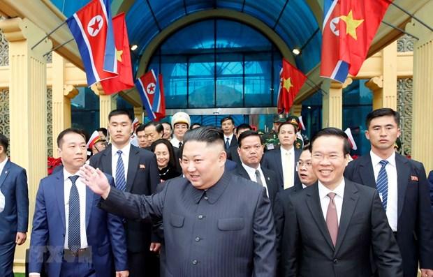 朝鲜最高领导人金正恩对越南进行正式友好访问:越朝关系中的历史里程碑 hinh anh 1