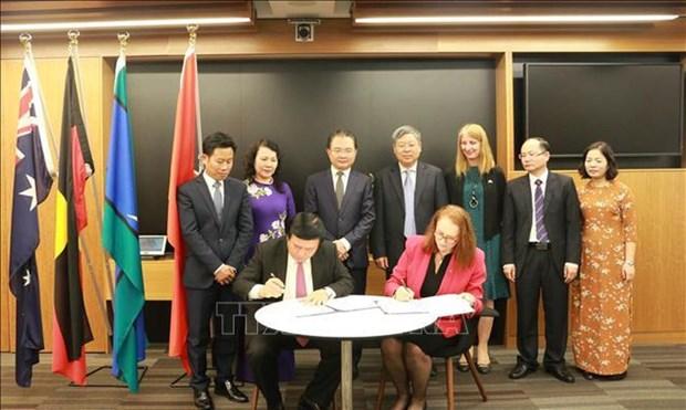 越南与澳大利亚加强促进人权教育内容的合作 hinh anh 1