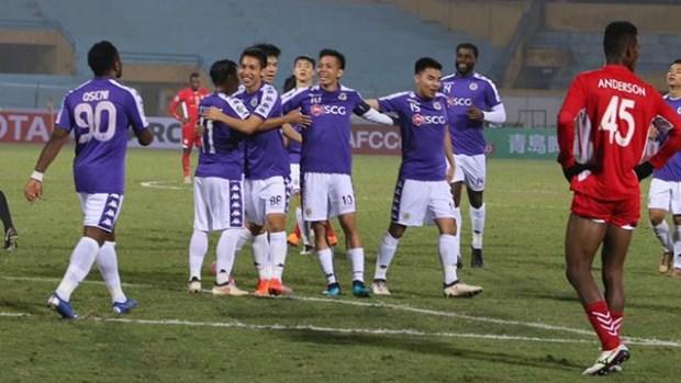 2019年亚洲足协杯:河内队10比0大胜纳加科普队 hinh anh 1