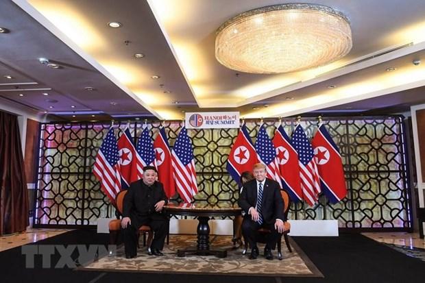 美朝领导人第二次会晤:越南愿在促进朝鲜半岛和平进程扮演和平推动者作用 hinh anh 1