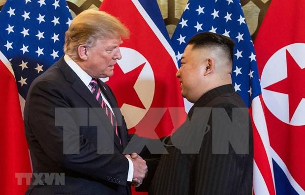 美朝领导人第二次会晤:美国总统特朗普在28日举行的会晤后将会面记者 hinh anh 1