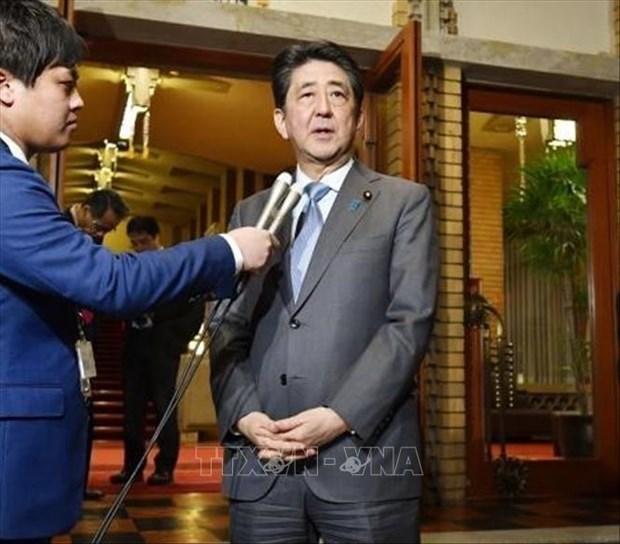美朝领导人河内会晤:日本支持美国总统的决定 hinh anh 1