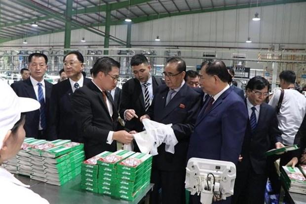 朝鲜劳动党高级代表团访问海阳省 hinh anh 2