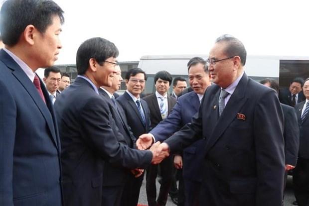 朝鲜劳动党高级代表团访问海阳省 hinh anh 1
