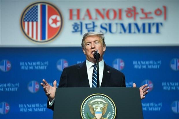 美朝领导人第二次会晤:制裁问题是两国领导未达成协议的原因 hinh anh 1