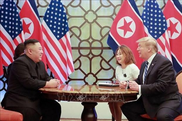 美朝领导人第二次会晤:中国希望美朝领导人坚持不懈将和谈推进下去 hinh anh 1