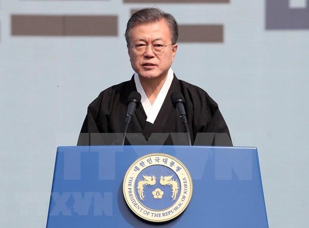 韩国总统文在寅:美朝领导人第二次会晤取得了有意义的进展 hinh anh 1