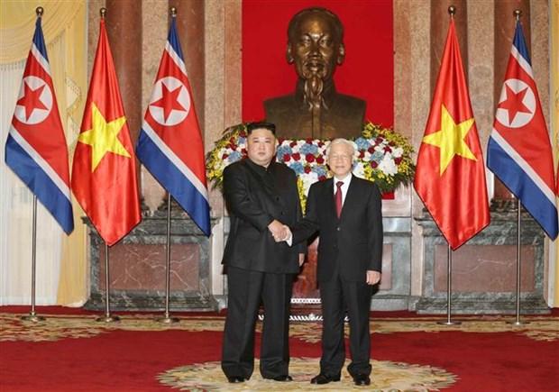 朝鲜主席金正恩:朝鲜重视并希望继续巩固与越南的传统友好关系 hinh anh 1