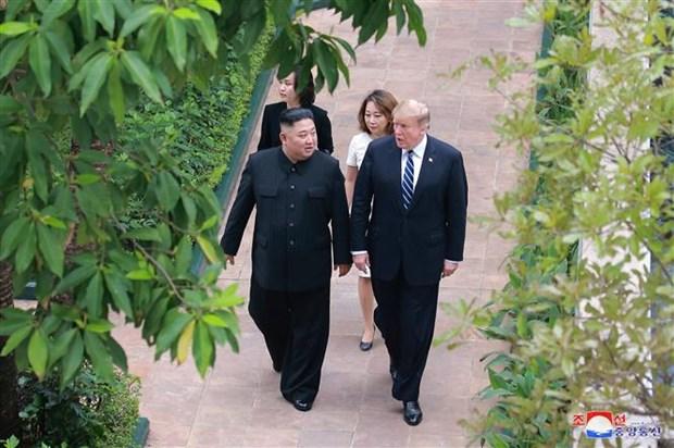美朝领导人河内会晤:美国总统期待将来同朝鲜达成核协议 hinh anh 1