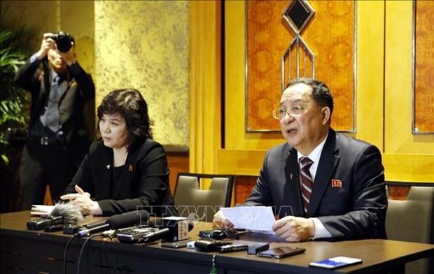 朝鲜深夜在河内召开新闻发布会 公布在美朝领导人第二次会晤中的实质性建议 hinh anh 1