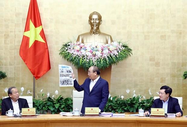 越南政府总理阮春福:尽最大努力促进经济增长 hinh anh 1