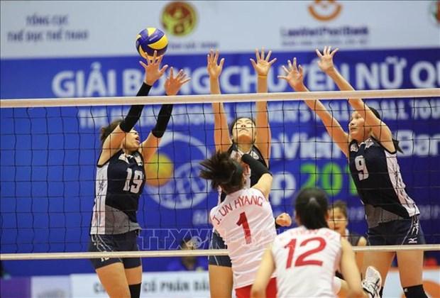 朝鲜女排出色获得2019年越南联越邮政银行女排锦标赛冠军 hinh anh 1