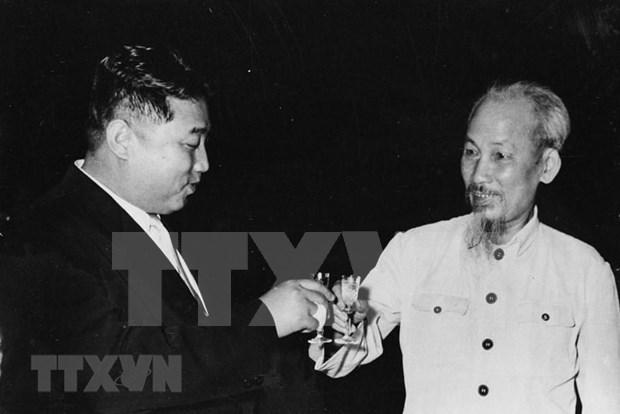 盘点朝鲜第一代最高领导人金日成访越之旅 hinh anh 1
