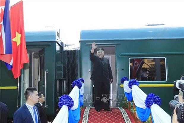 韩媒:朝鲜最高领导人金正恩专列不经北京直奔首都平壤 hinh anh 1