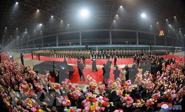 朝中社:朝鲜最高领导人金正恩结束访越行程回到平壤 hinh anh 2