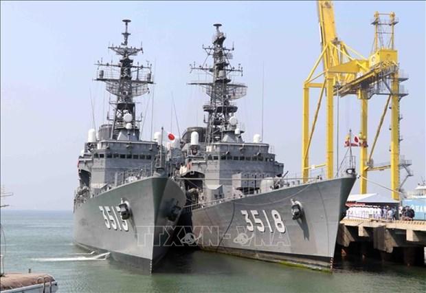 日本2艘训练舰访问越南岘港市 hinh anh 1