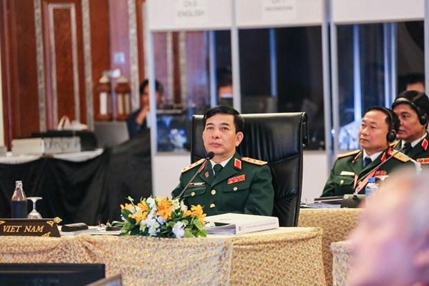 越南副防长潘文江率团出席第16届东盟国防总司令会议 hinh anh 3