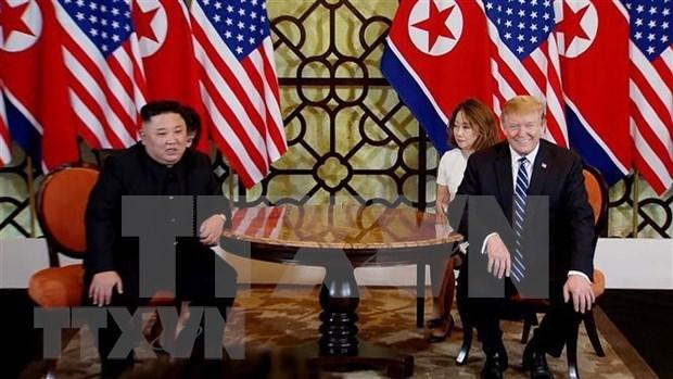 朝鲜中央电视台播放美朝领导人第二次会晤纪录片 hinh anh 1
