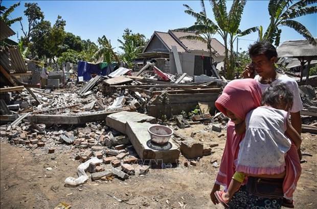印度尼西亚为龙目岛地震灾后重建工作出力 hinh anh 1