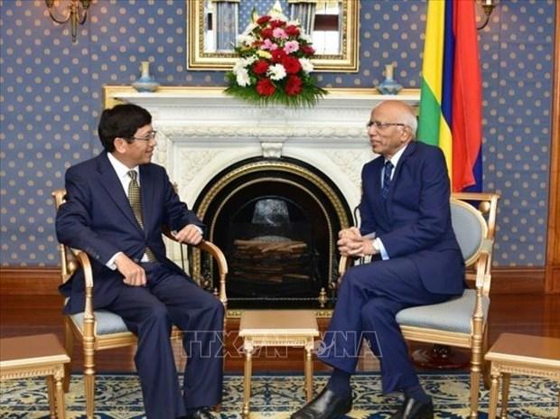 越南和毛里求斯致力于促进多领域的合作关系 hinh anh 2