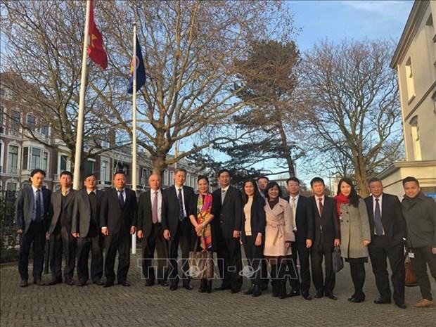 越南民用航空局代表团对荷兰进行工作访问 hinh anh 1