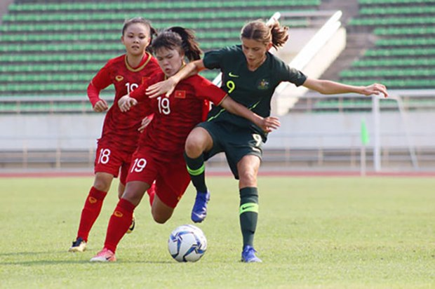 越南U16女队晋级亚洲U16女足锦标赛决赛阶段 hinh anh 1
