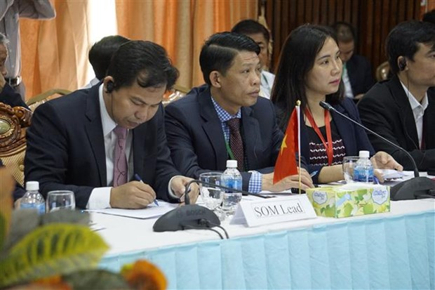 JCC CLV DTA会议框架下的高级官员会议在柬埔寨开幕 hinh anh 1