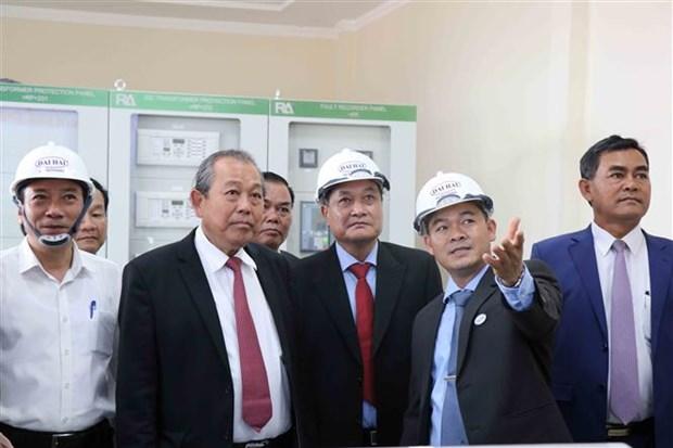 政府副总理张和平出席得乐省太阳能发电项目竣工仪式 hinh anh 2