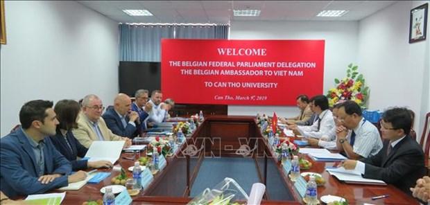 比利时议会代表团和比利时驻越大使对芹苴市进行工作访问 hinh anh 1