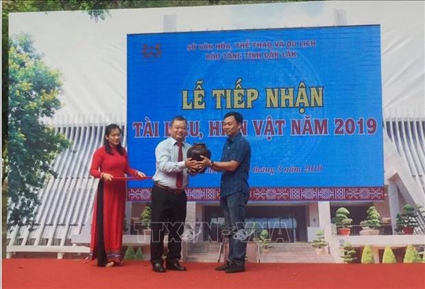 得乐省博物馆接受私人捐赠的实物 hinh anh 1