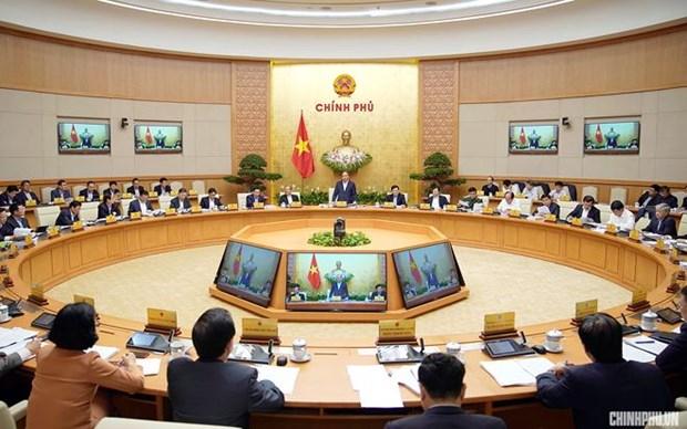越南政府2月份例行会议决议:夯实宏观经济基础 抑制通货膨胀 hinh anh 1