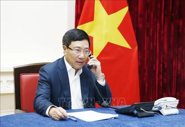 越马两国外长通电话 讨论双边关系相关问题 hinh anh 1