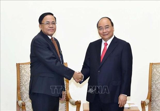 越南政府总理阮春福会见缅甸国际合作部部长吴觉丁 hinh anh 1