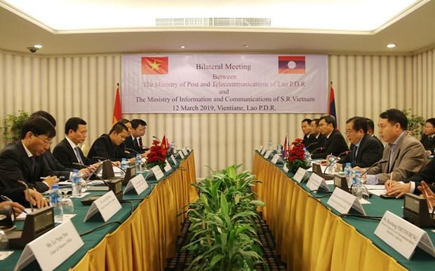 老挝领导对越南信息传媒部和老挝各部门合作的有效性给予高度评价 hinh anh 2