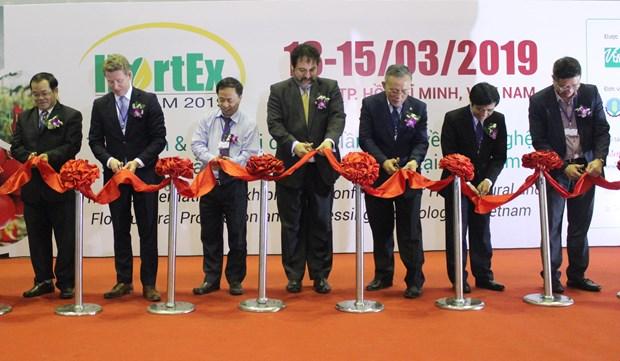 2019越南国际果蔬及花卉园艺展览会开幕 hinh anh 1