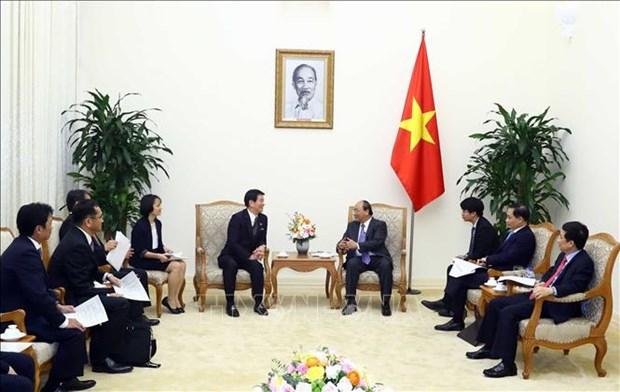 阮春福会见日本千叶县知事和荷兰新任驻越大使 hinh anh 1