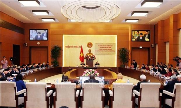 越南国会常委会与祖国阵线中央委员会主席团2019年度联席会议在河内召开 hinh anh 1