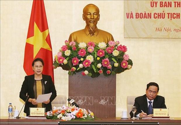 越南国会常委会与祖国阵线中央委员会主席团2019年度联席会议在河内召开 hinh anh 2
