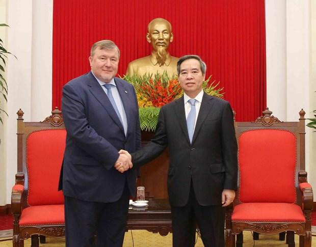 越共中央经济部部长阮文平会见美国-东盟理事会代表团 hinh anh 2